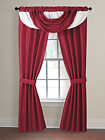Drape & Scarf Valance Curtain Set