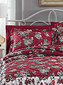 Sham for Tiered Ruffle Quilted Bedspread