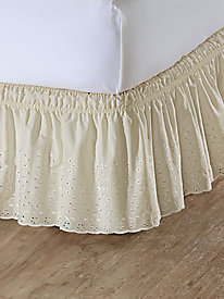 Eyelet Wrap-Around Bed Ruffle