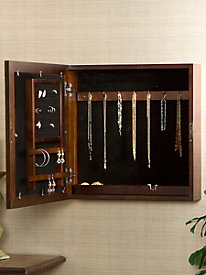 Square Jewelry Armoire Wall Mount