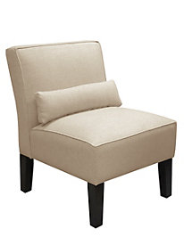 Sophie Armless Chair-Microsuede