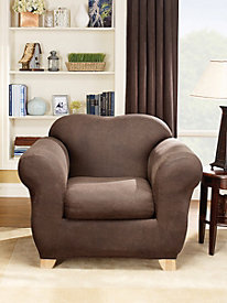 Stretch Leather 2-Piece Chair Cover