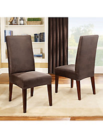 Stretch Leather Dining Chair Cover by linensource