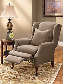 Stretch Thread Count Pique Wing Recliner Slipcover