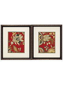 Red Jacobean Prints by linensource