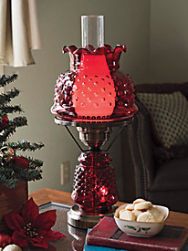 Hobnail Hurricane Lamp