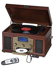 Nostalgic 6 in 1 CD Recorder Turntable