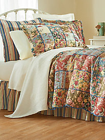 Kensington Garden Quilt, Sham, Bedskirt & Window Panels