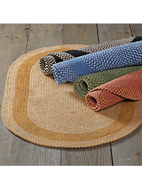 Basketweave Oval Rug