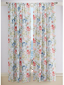 Swansea Floral Lined Curtain Panel Pair