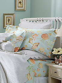 Wrinkle-Free Seascape Pillow Sham