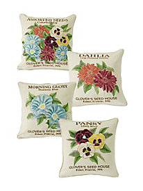 Garden Seed 18'' Decorative Pillows