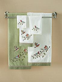 Bird Choir Fingertip Towel