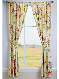 Blooming Vines Lined Curtain Panels (Pair)