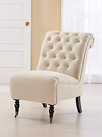 Cora Roll Back Tufted Chair