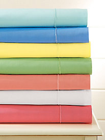 Classic Cotton Percale Solid Sheets