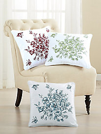 Rose Toile Embroidered Decorative Pillows