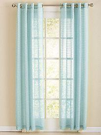 Windowpane Grommet-Top Sheer Curtain Panels