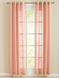 Windowpane Grommet-top Grommet Curtain Panels