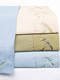 Leaf Embroidered Sheeting