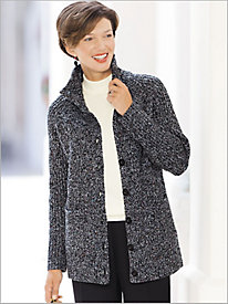 Marled Sweater Coat