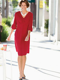 Solid Ruched Front Dress