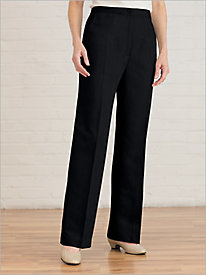 Washable Wool Zip-Front Pants