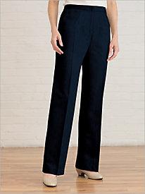 Washable Wool Zip-Front Pants