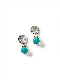 Treasure Turq Clip Earrings