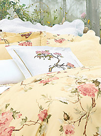 Mer De Rose White with Embroidery Pillow Sham