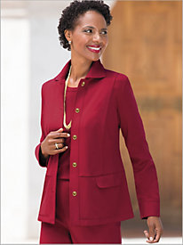 Premium Ponte Knit Sophisticate Jacket by Brownstone Studio®