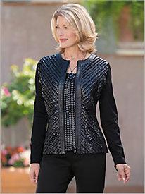 Pearl Mesh Knit Jacket...