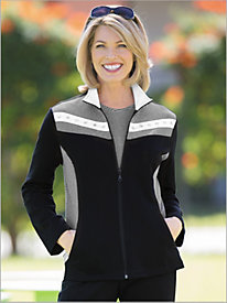 Mitered Stripes Knit Jacket by D & D Lifestyle 559853