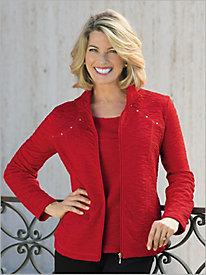 Jacquard Knit Jacket