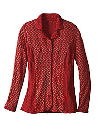 Women's Textures & Tones Knit Jacket