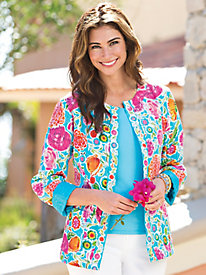 Women's Enchanted Florist Silk Jacket