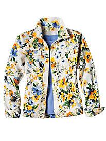 Women's Floral Jean Jacket