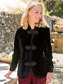 Women's Black Velvet Jacket