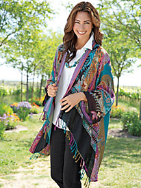 Women's Floral Serenity Shawl