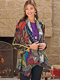 Women's Handmade Abstract Wool Jacket
