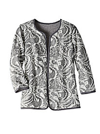 Women's Floating Floral Knit Jacket