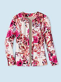Women's Floral Splash Zip Jacket