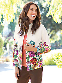 Women's Border Bloom Boyfriend Jacket