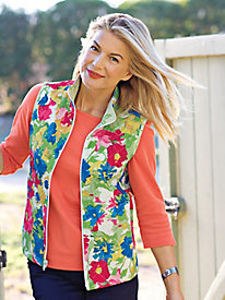 Women's Reversible Quilted Vest