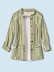 Women's Vintage Striped Blazer