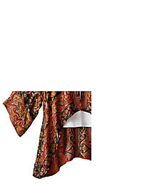 Women's Crimson Fire Floral Shawl