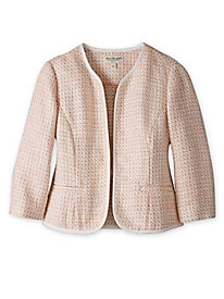 Women's Designer-Inspired Tweed Blazer