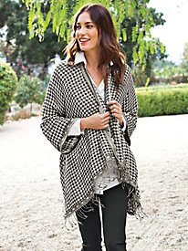 Women's Houndstooth Shawl