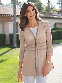 Women's Linen & Lace Jacket