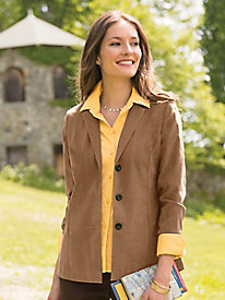 Women's Casually Chic Suedecloth Jacket